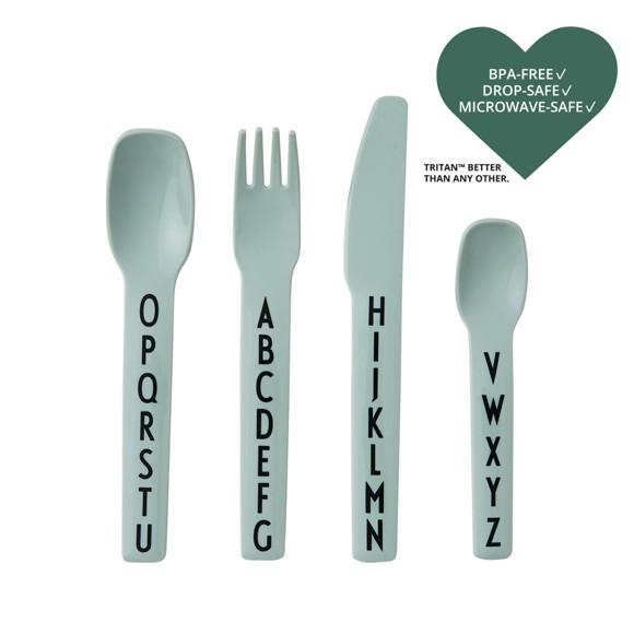 Design Letters - Kids Cutlery - Green