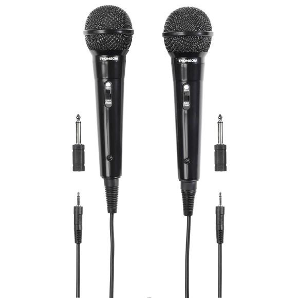 THOMSON Mikrofon M135D Dynamisk Sort 2-pak
