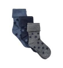 MINYMO - 3 pk Baby Sock w. Pattern