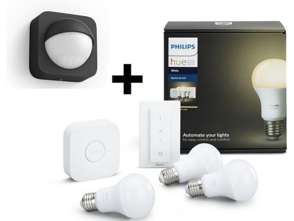 zz Philips Hue - E27 Starter Kit + Outdoor Sensor Bundle