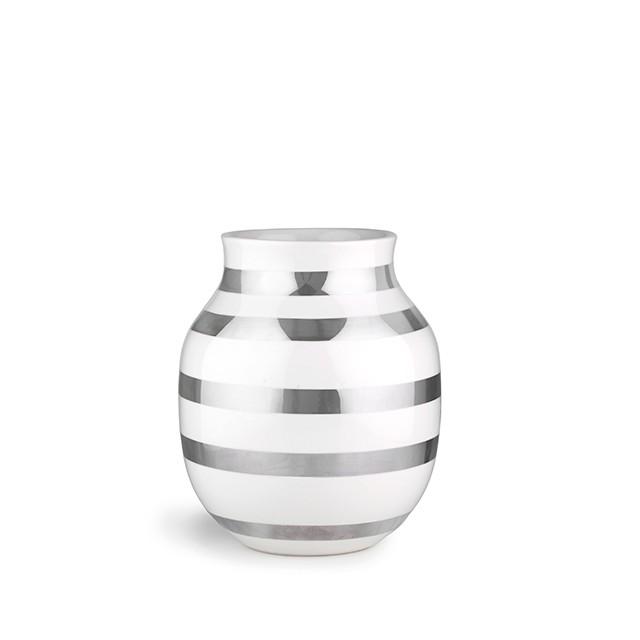 Kähler - Omaggio Vase Medium - Silver (691791)