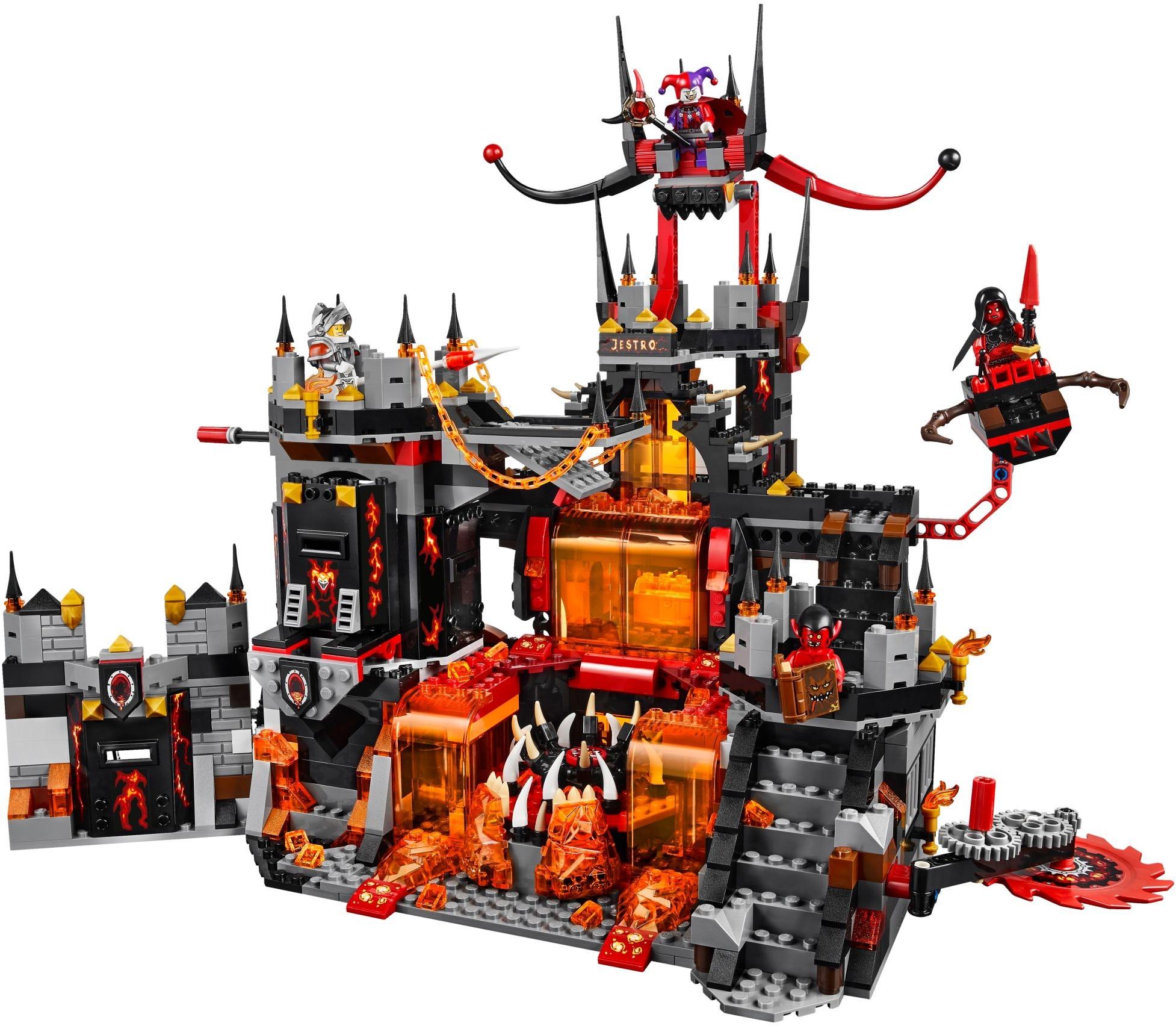 buy lego nexo knights  jestro's volcano lair lego 70323