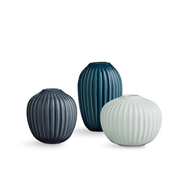 Kähler - Hammershøi Vase Miniature 3 pack - Green (692398)