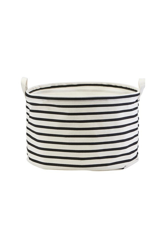 House Doctor - Storage Bag Stripes Small - Black/White (LS0441)