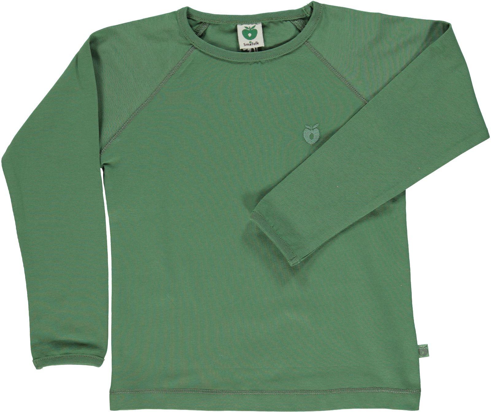 Småfolk - Organic Basic Longsleved T-Shirt - Elm Green