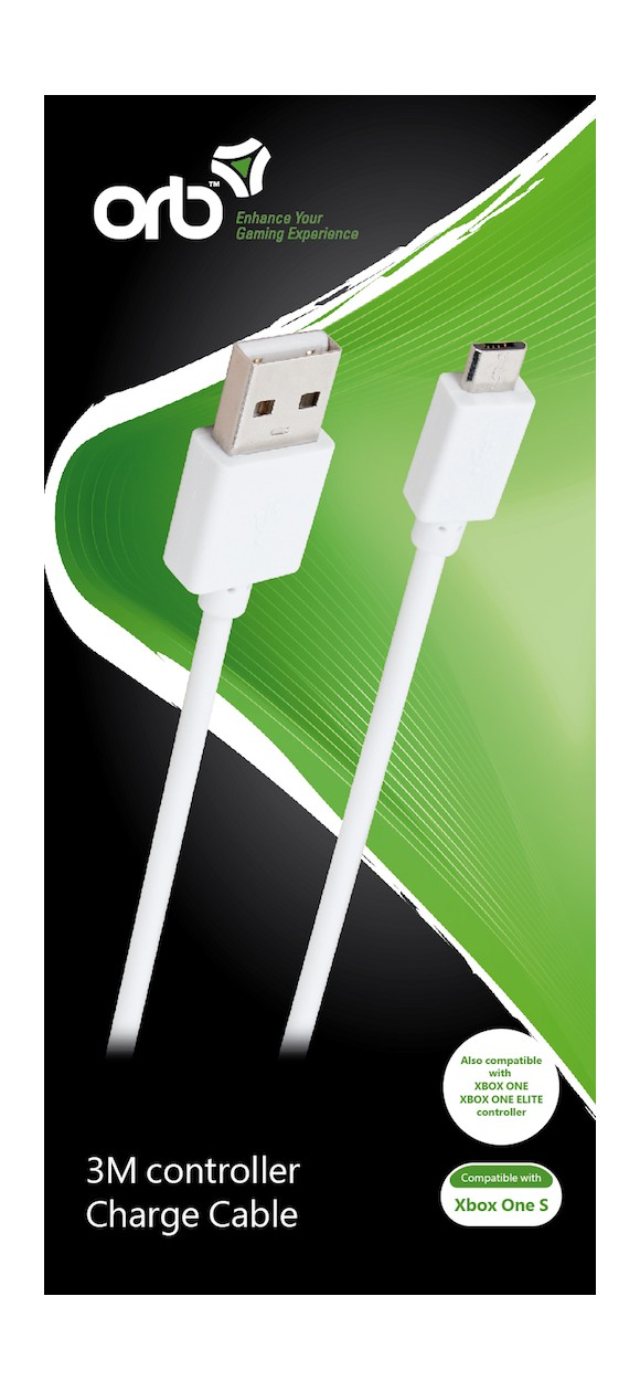 ORB controller charge cable (3m cable) - for Xbox One S