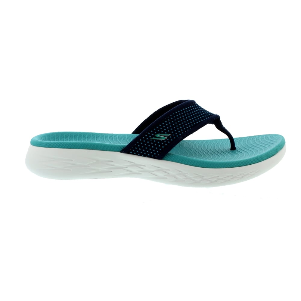Køb Skechers 15300 On The Go 600 NavyTurquoise Womens Sandals