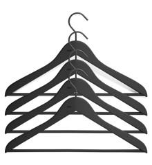 HAY - Hanger met stang - Slim 4 stuks Zwart