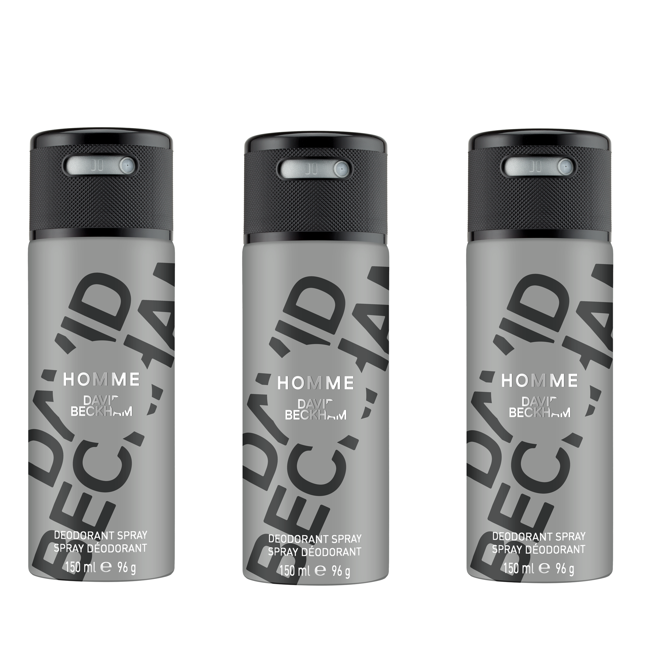 David Beckham - 3x Homme Deodorant Spray 150 ml
