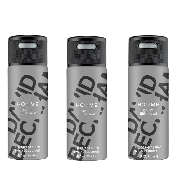 David Beckham - 3x Homme Deodorant Spray 150 ml