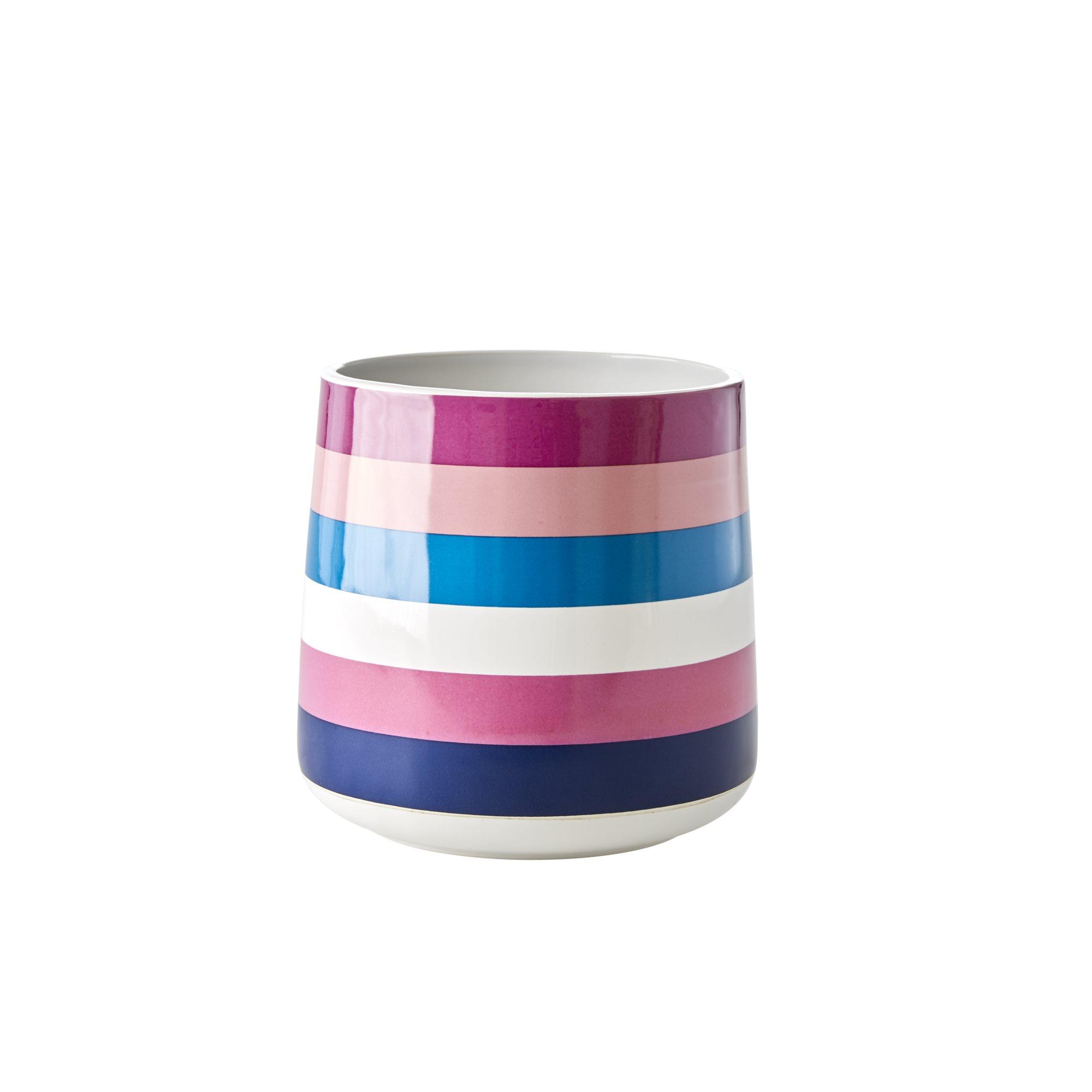 Rice - Ceramic Jar for Utensils - Stripes