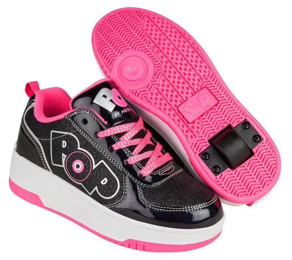 Heelys - Strike - Black Sparkle/Black Holo/Pink - Size 30 (POP-G1W-0033)