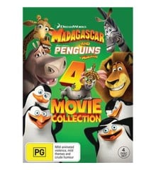 Madagascar 1-3 + Penguins of Madagascar (4 disc) - DVD