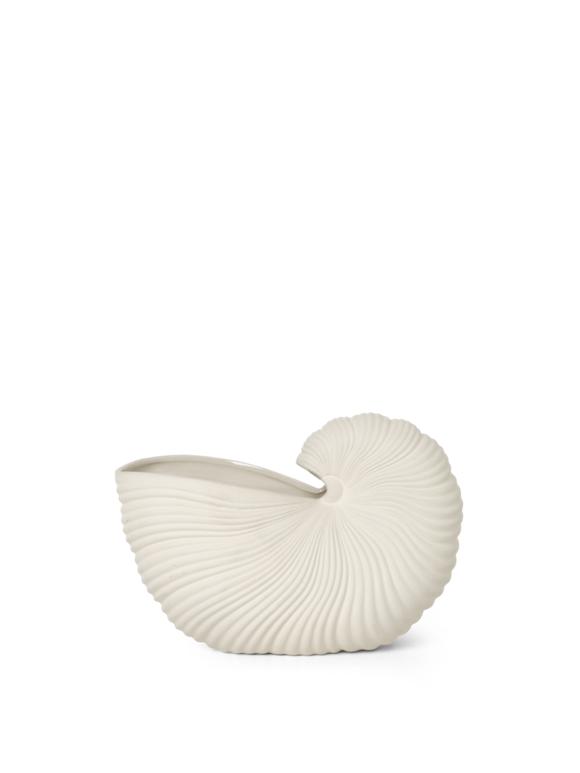 Ferm Living - Shell Vase - Råhvid