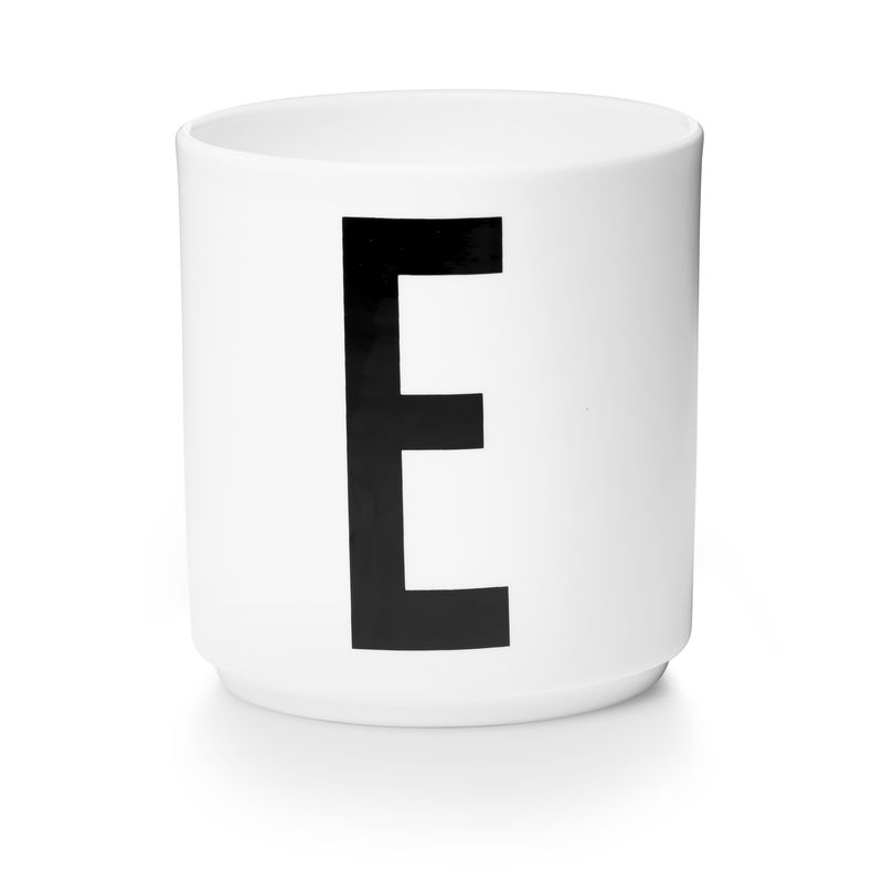 Design Letters - Personal Porcelain Cup E - White (10201000E)