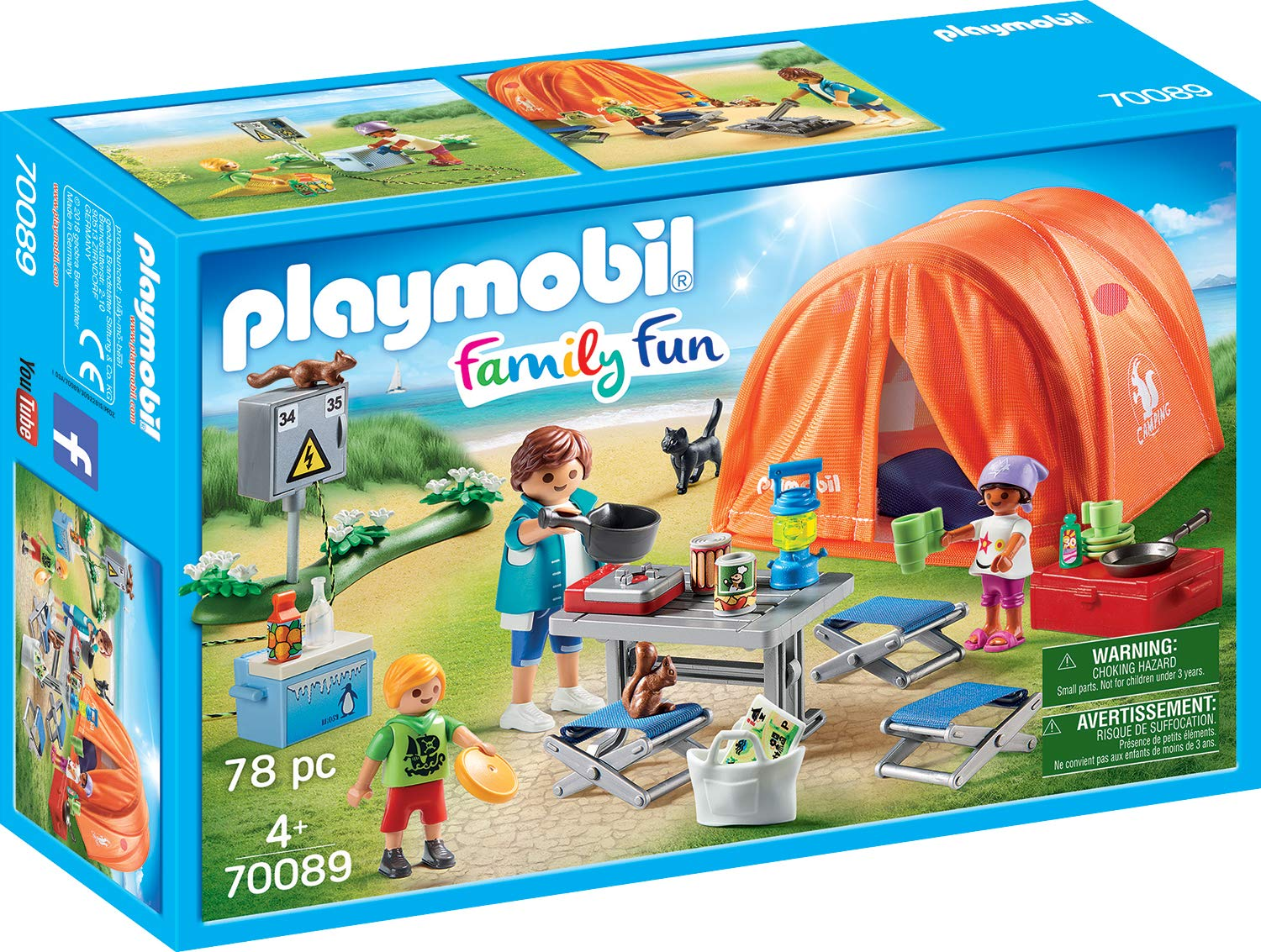 Playmobil - Family Fun - Campers with tent (70089)