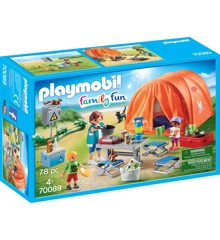 Playmobil - Family Fun - Campingferie med stort telt (70089)