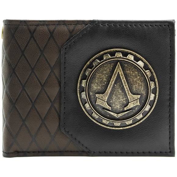 Ubisoft Assassins Creed Syndicate Cog Brown ID & Card BiFold Wallet