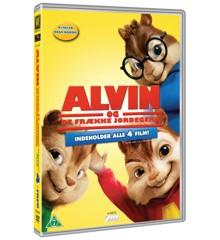 Alvin And The Chipmunks 1-4/Alvin Og De Frække Jordegern 1-4 (4disc) - DVD
