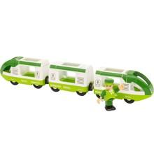BRIO - Grønt passagertog med 1 figur (33622)