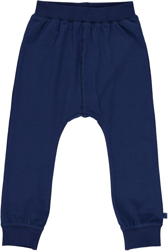 Småfolk - Organic Basic Jersey Pants - Navy
