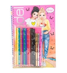 Top Model - Coloring Book with Crayons (048760)