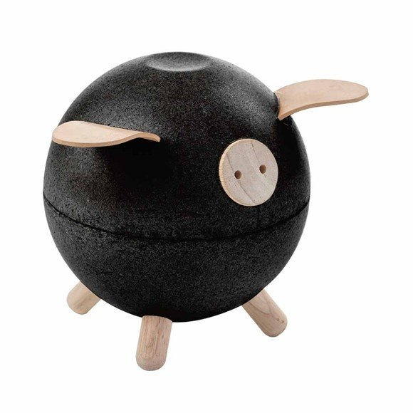 PlanToys - Piggy bank, Black (8613)