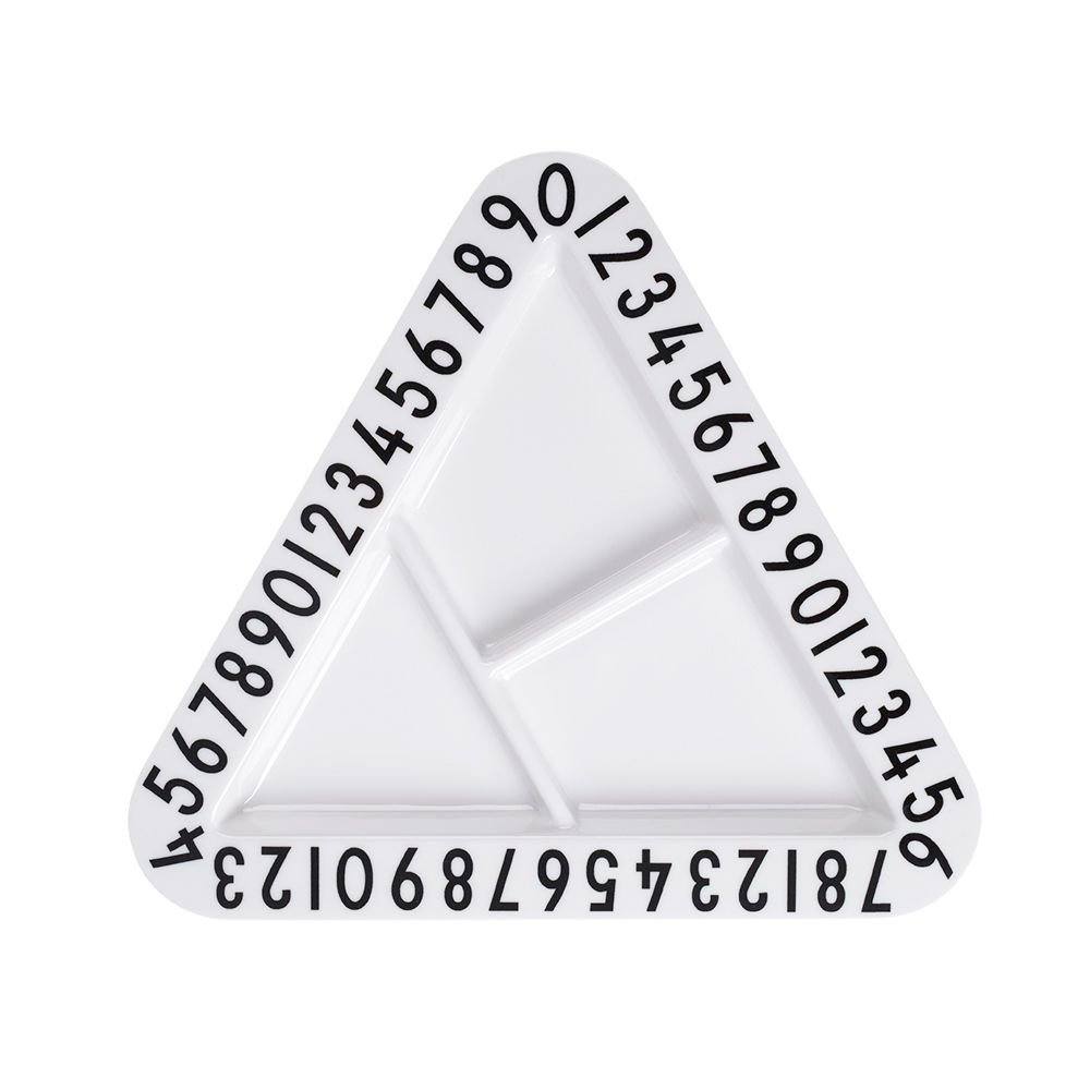 Design Letters - Melamine Triangular Snack Plate (20201004SNACK TRI)