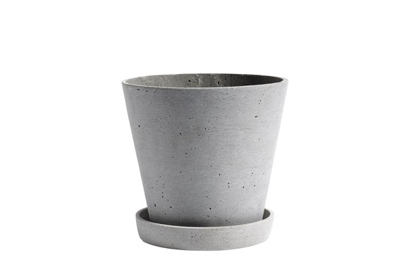 HAY - Blumentopf mit Untersetzer Large - Grau