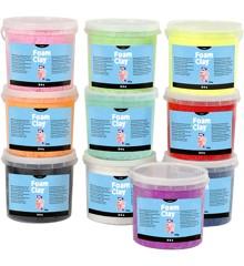 Foam Clay - Assorterede Farver m/Glitter (10 x 560g)