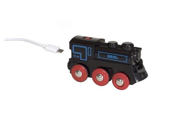 BRIO - Genopladeligt lokomotiv med mini USB-kabel (33599)