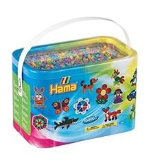 Hama Beads - Midi - 10.000 Beads in Bucket - Pastel Mix (202-50)