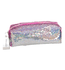 Top Model - Pencil Case w. Sequins - Pink/Silver (10416)