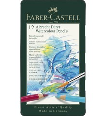 Faber-Castell - Akvarel farveblyanterAlbrecht Dürer, metalæske med 12 stk (117512)