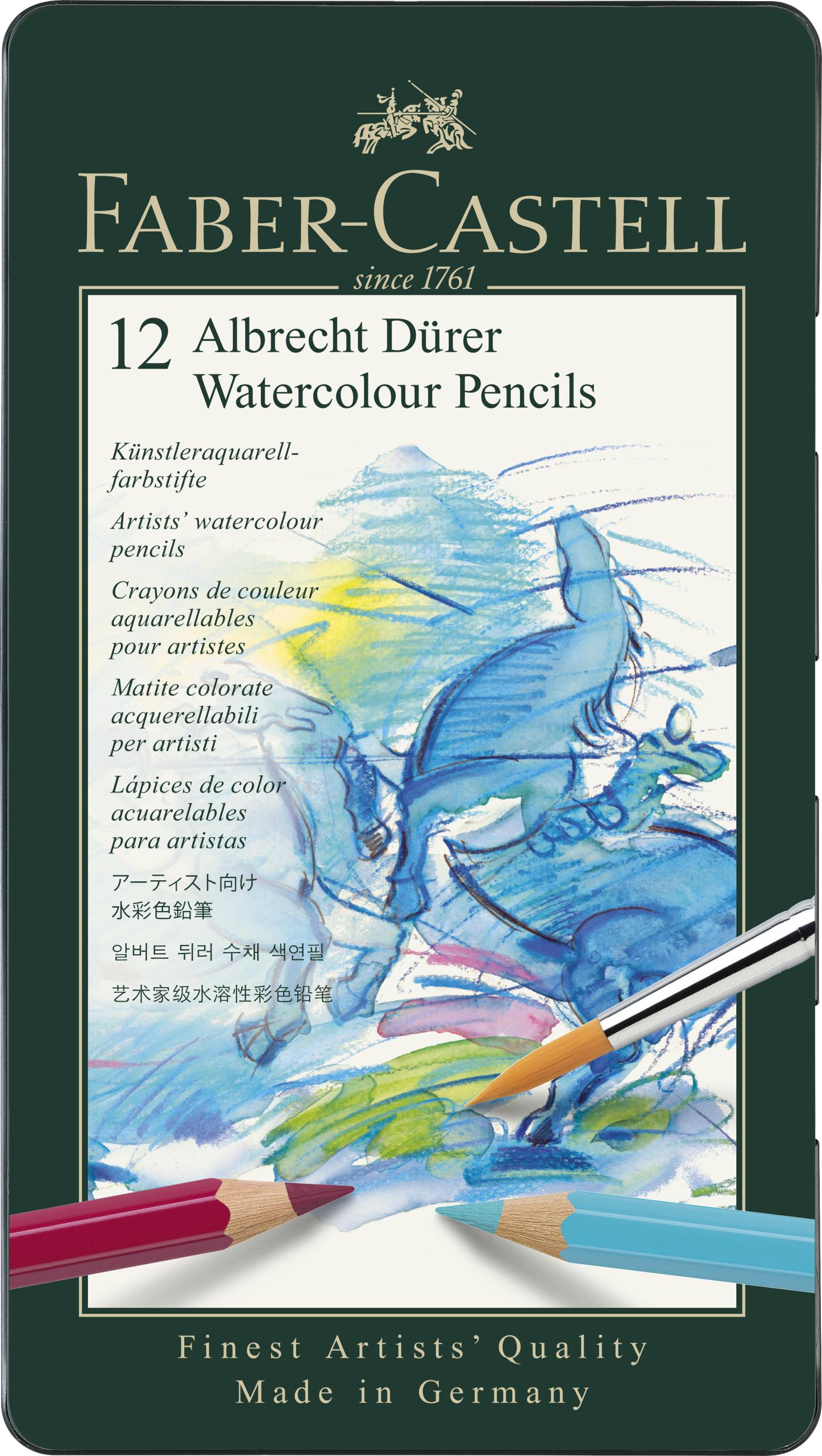Faber-Castell - Watercolour pencil Albrecht Dürer tin of 12 (117512)