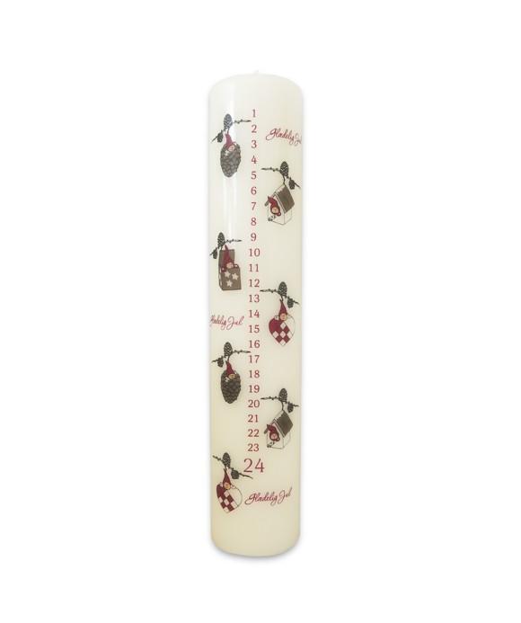 Klarborgnisser - Nisserik Christmas Candle (93101)