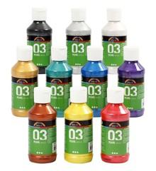 A-Color - Acrylic Paint - Metallic - 10 x 120 ml (32201)