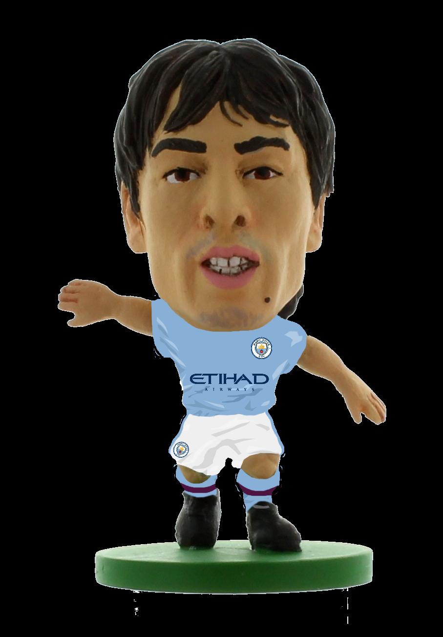 Soccerstarz - Man City David Silva - Home Kit (2020 version)