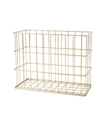 ​Rice - Wire Basket in Gold - Tall and Narrow Size