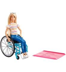 Barbie - Fashionista Dukke med Kørerstol - Blond