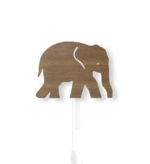Ferm Living - Elefant Lampe - Røget Eg