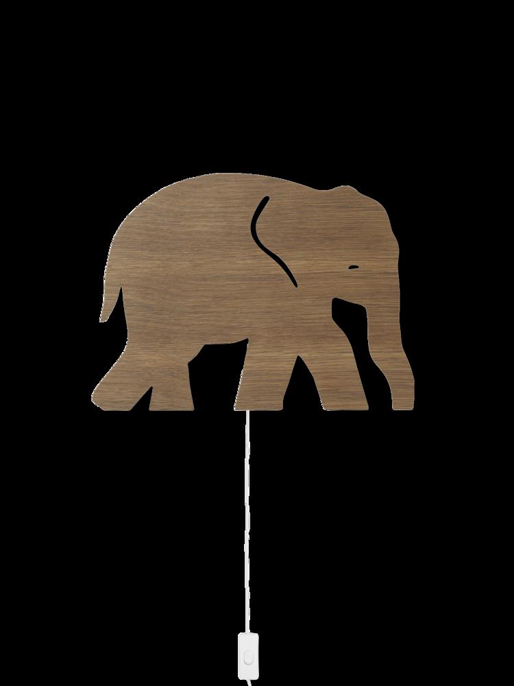 Ferm Living - Elephant Lamp - Smoked Oak (100050316)