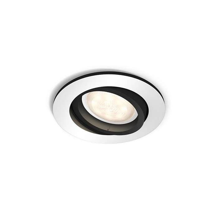 Philips Hue - Milliskin Recessed Spot Light Without Remote Black - E