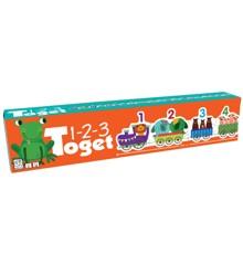 Barbo Toys - Puslespil - 123 Tog med Dyr (UK)