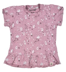 ​PAPFAR - Slub Jersey AOP Girls SS top