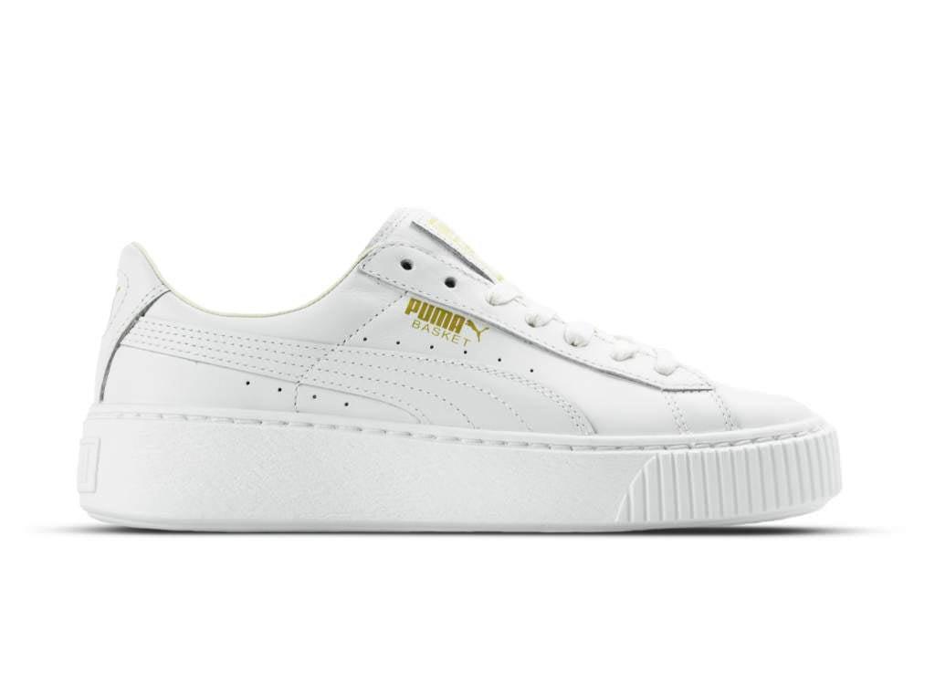 Puma Basket Platform Core • Hvide Sneakers