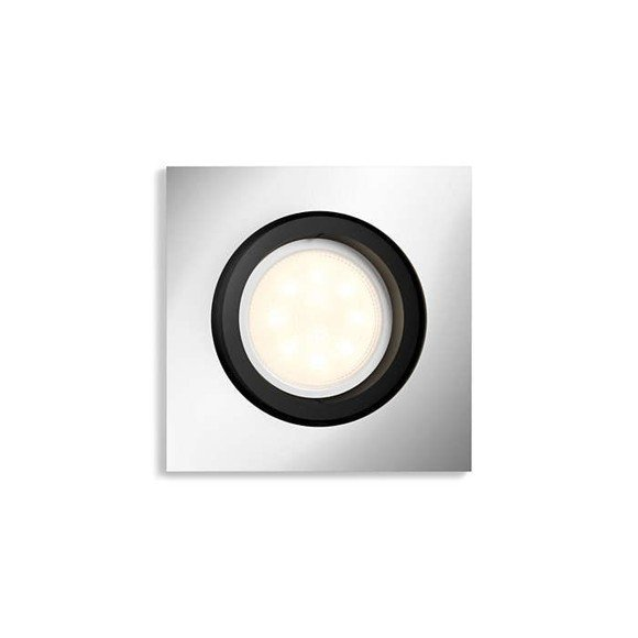 Philips Hue - Milliskin Recessed Square Spot Light Remote Not Included Alu - White Ambiance