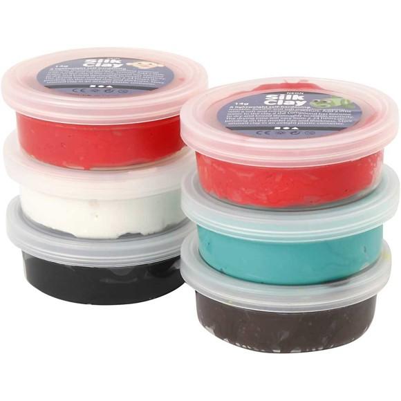 Silk Clay - Assorterede Farver (6 x 14 g) - Jul