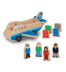 Melissa & Doug - Wooden Airplane With 4 Figures (19394)
