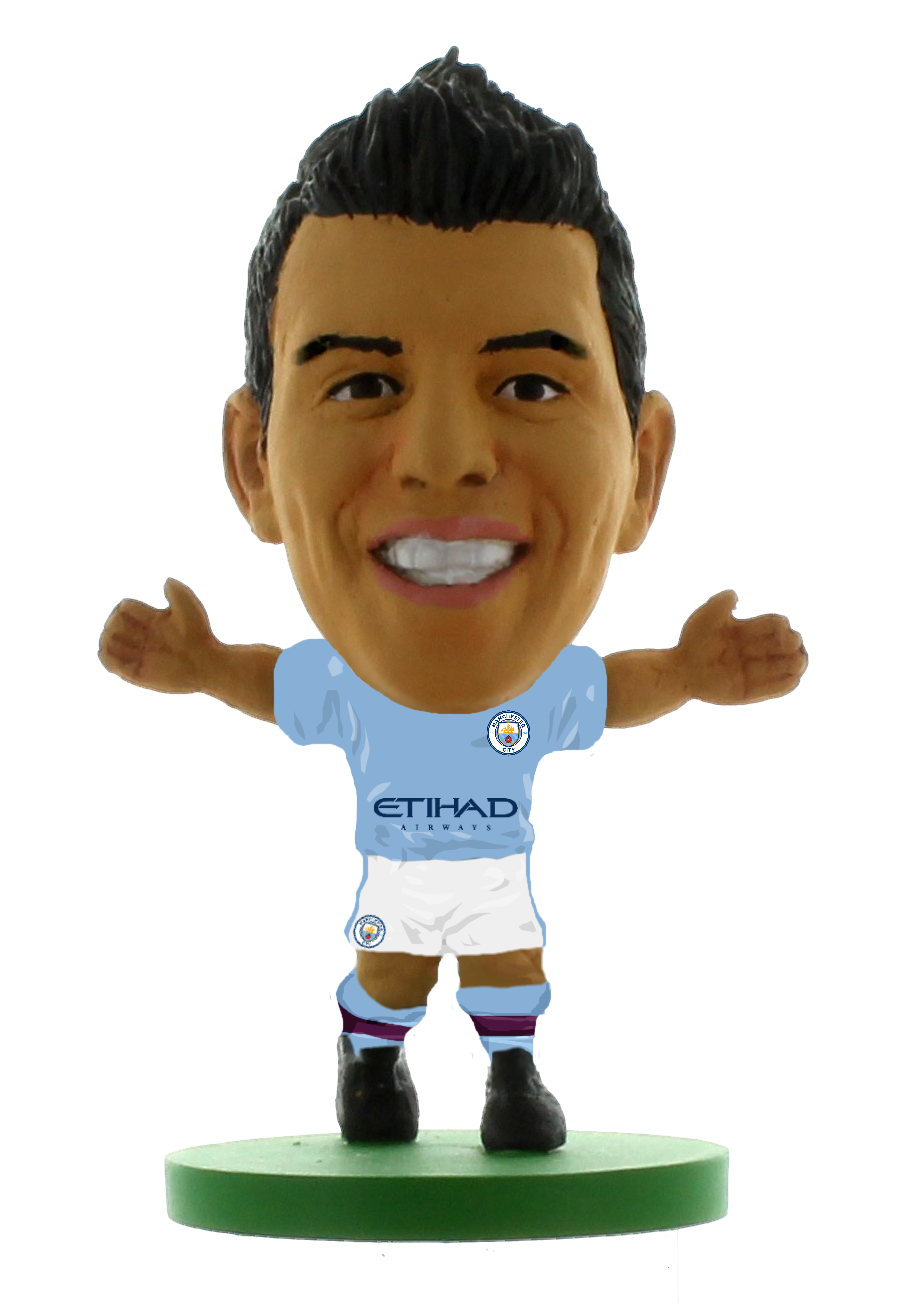 Soccerstarz - Man City Sergio Aguero - Home Kit (2020 version)